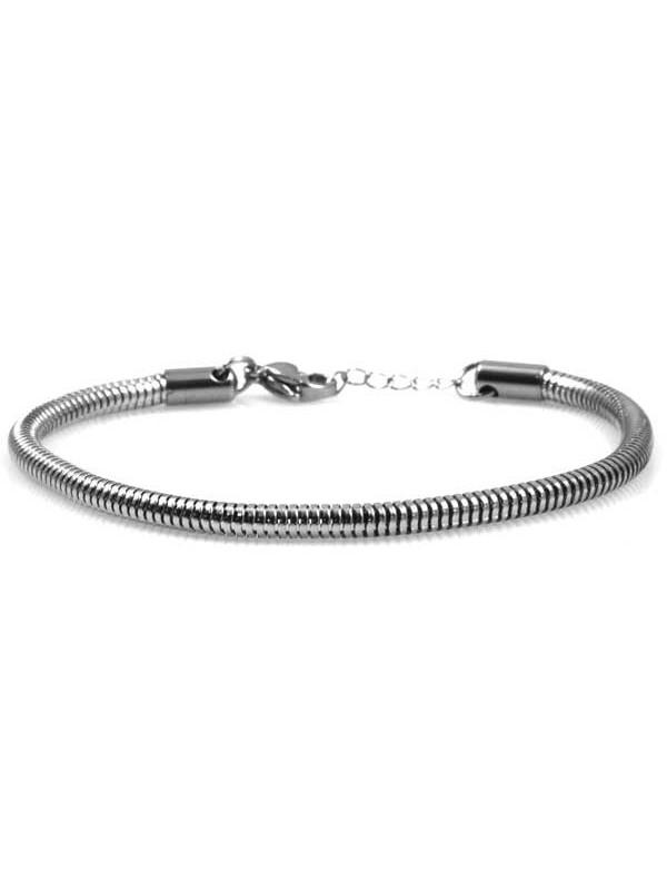 bracciale tubo per charm scorrevoli in acciaio indistruttibile
