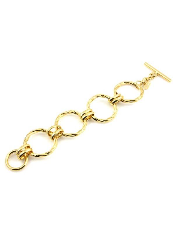 Bracciale donna in bronzo dorato ad anelloni