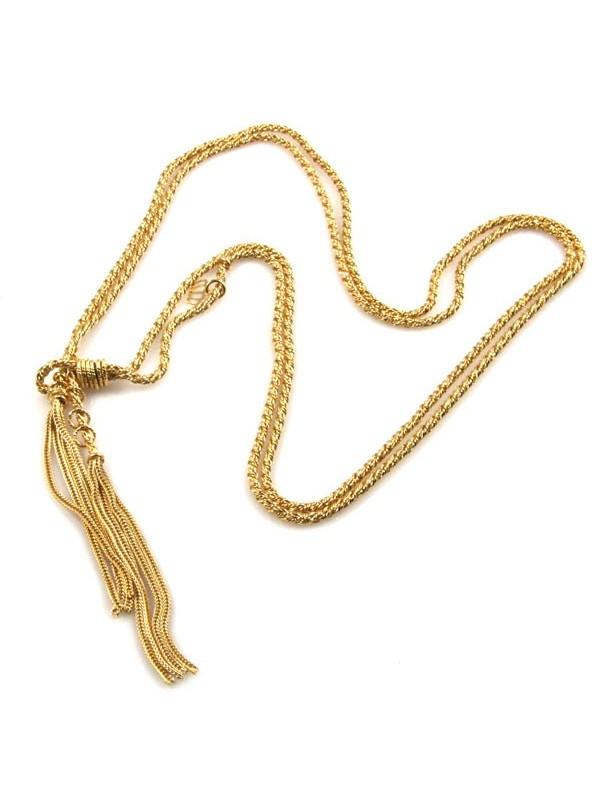 Collana donna sciarpetta dorata in bronzo