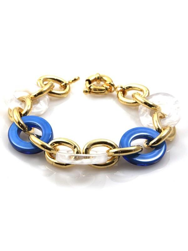 bracciale donna in bronzo dorato e resine colorate - bcc1085