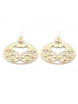 orecchini in bronzo ramato pendenti attacco a monachella