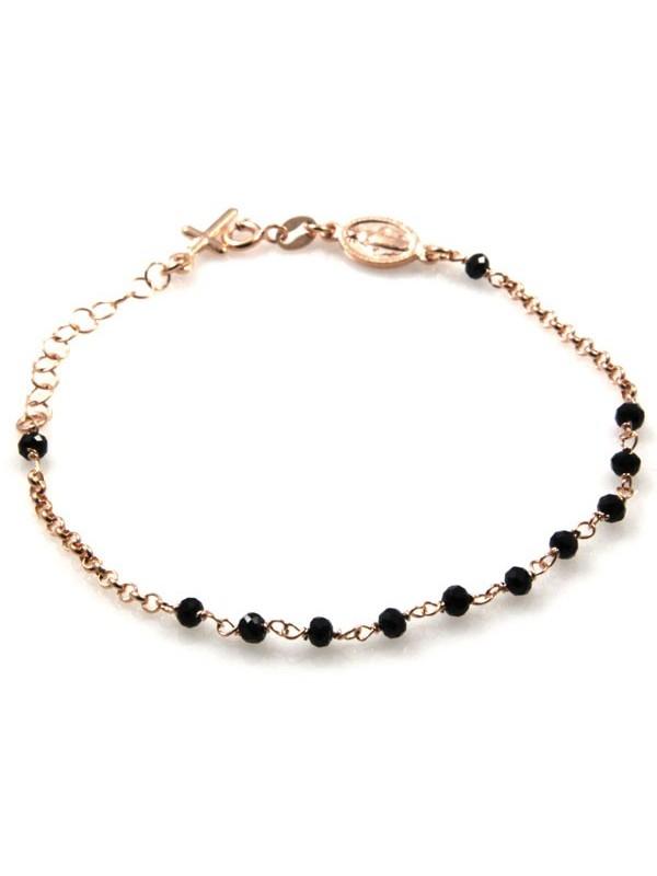 bracciale rosario in argento ramato