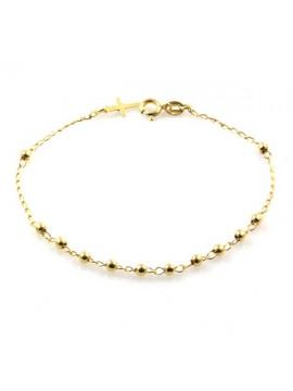 bracciale rosario in argento 925 dorato - bcc1195
