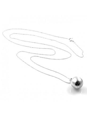Collana chiama angeli ciondolo pendente in argento 925 mm12