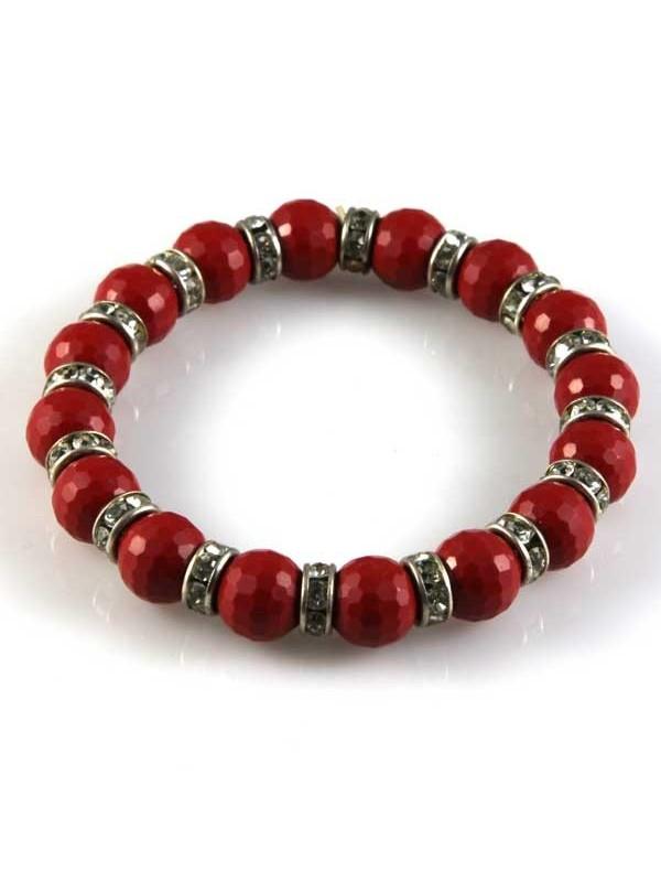 bracciale con resine rosse elastico