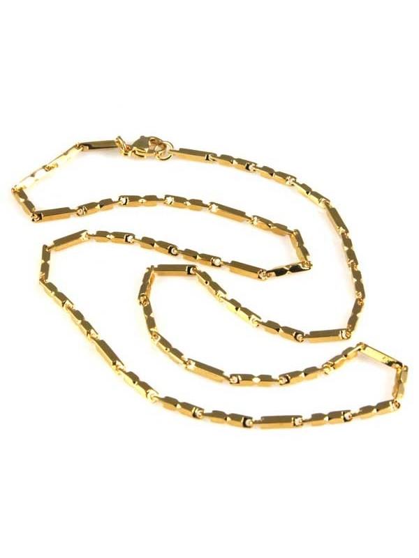 collana in acciaio dorato maglia lavorata