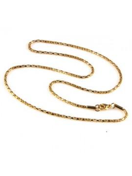 collana in acciaio dorato maglia coda di topo