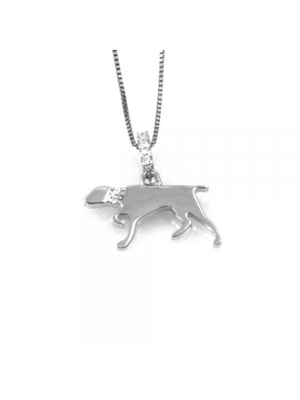 collana con segugio cane ciondolo pendente in argento 925