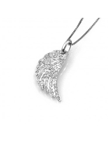 collana con ala ciondolo pendente in argento 925