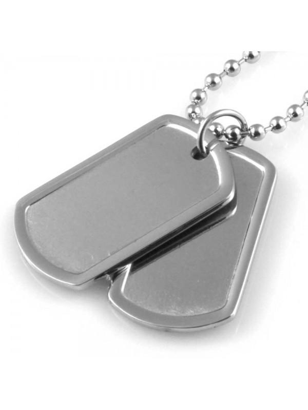 collana piastra militare ciondolo uomo personalizzabile con incisione