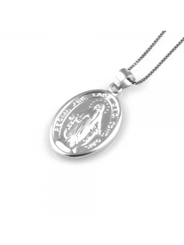 collana con medaglia miracolosa ciondolo in argento 925