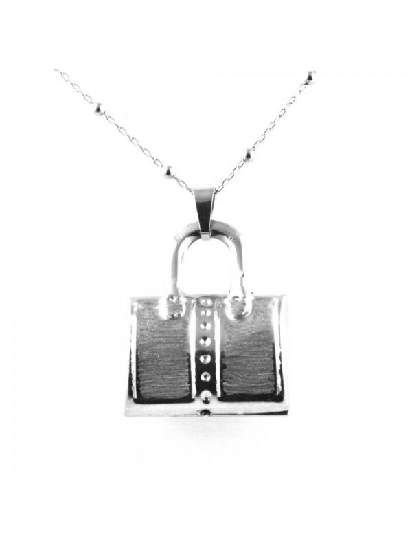collana a borsetta ciondolo in bronzo gioiello da donna