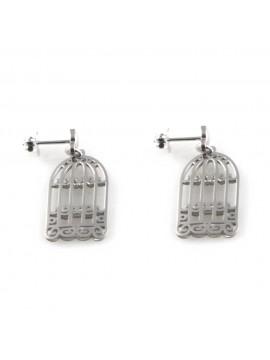 orecchini a gabbia in argento 925 gioiello donna particolarissimo