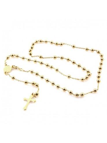 Collana rosario in bronzo dorato