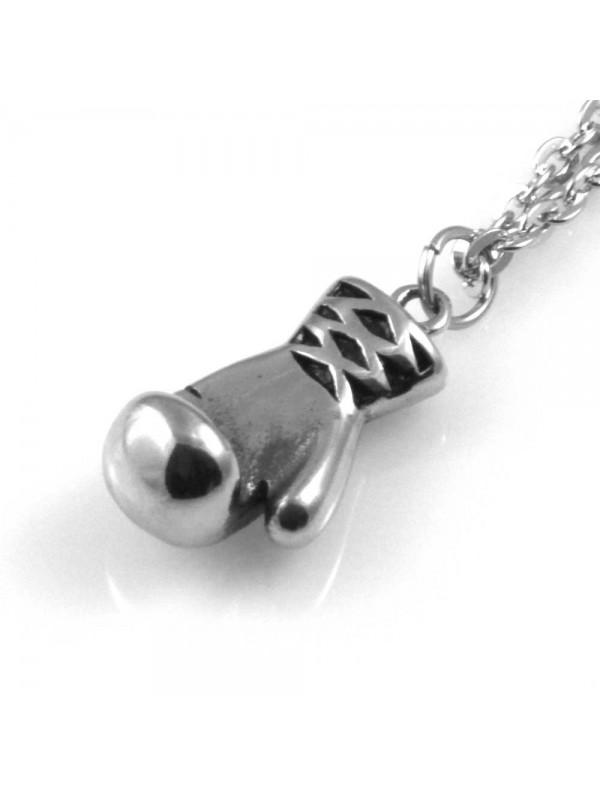 collana uomo con guantone da box ciondolo gioiello in acciaio inossidabile particolare catena da cm 50 mm 28 mm 13