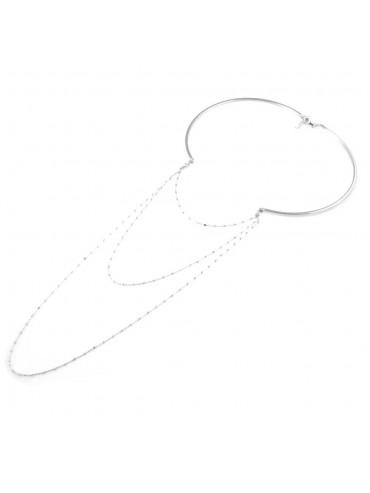 collana donna in argento 925 strozzino a degradare particolarissima lunga cm 60