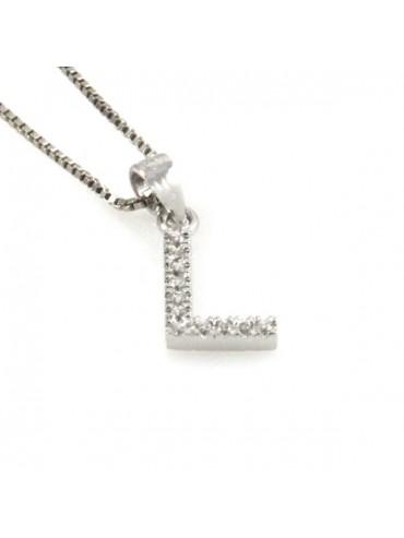 Collana con lettera l iniziale in argento 925