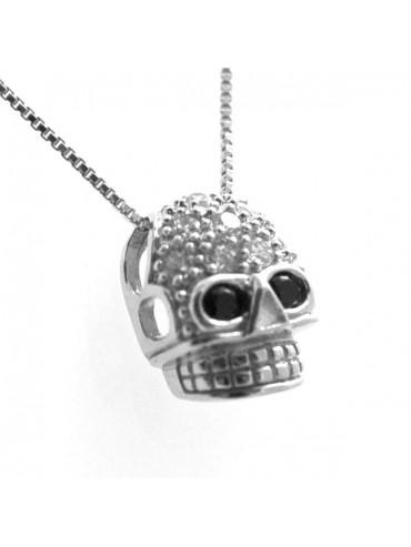 Collana con teschio in argento 925