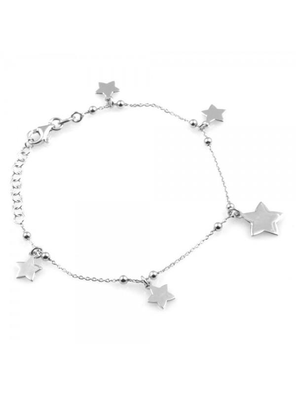 bracciale donna con stelline in argento 925