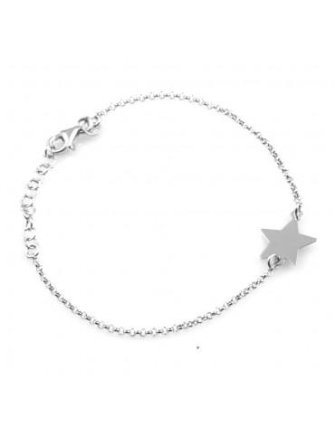 bracciale donna con ciondolo stella o stellina in argento 925