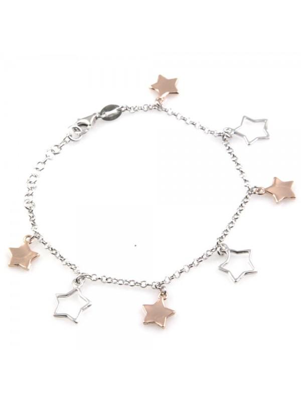 bracciale donna con ciondoli stella o stelline in argento 925