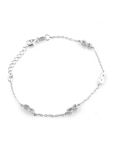 bracciale donna con infinito simbolo in argento 925