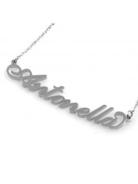 collana con nome Antonella in acciaio da donna