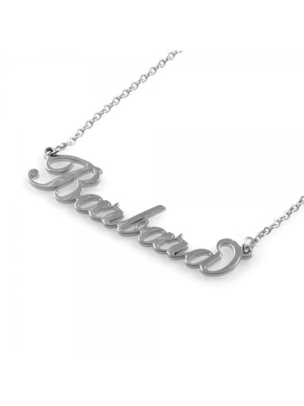 collana con nome Barbara in acciaio da donna