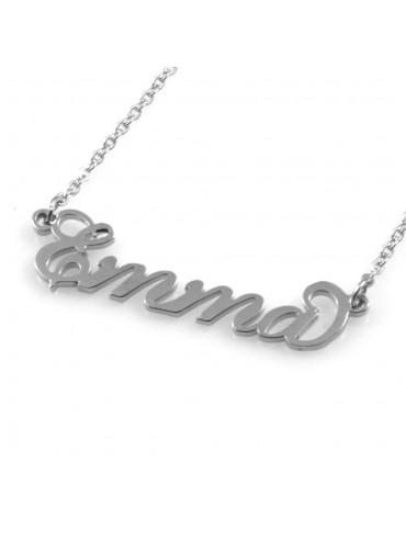 collana con nome Emma in acciaio da donna