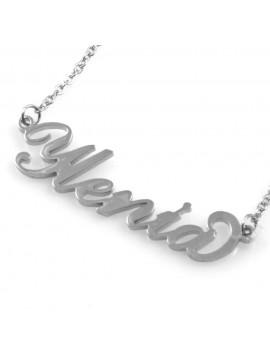 collana con nome Ilenia in acciaio da donna