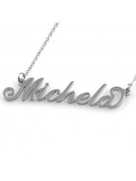 collana con nome Michela in acciaio da donna