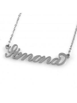 collana con nome Simona in acciaio da donna