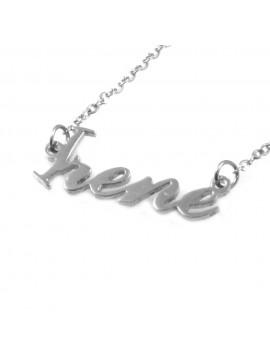 collana con nome Irene in acciaio da donna - cll1812