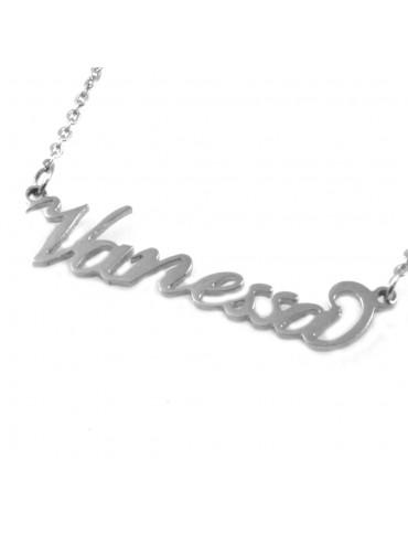 collana con nome Vanessa in acciaio da donna - cll1815