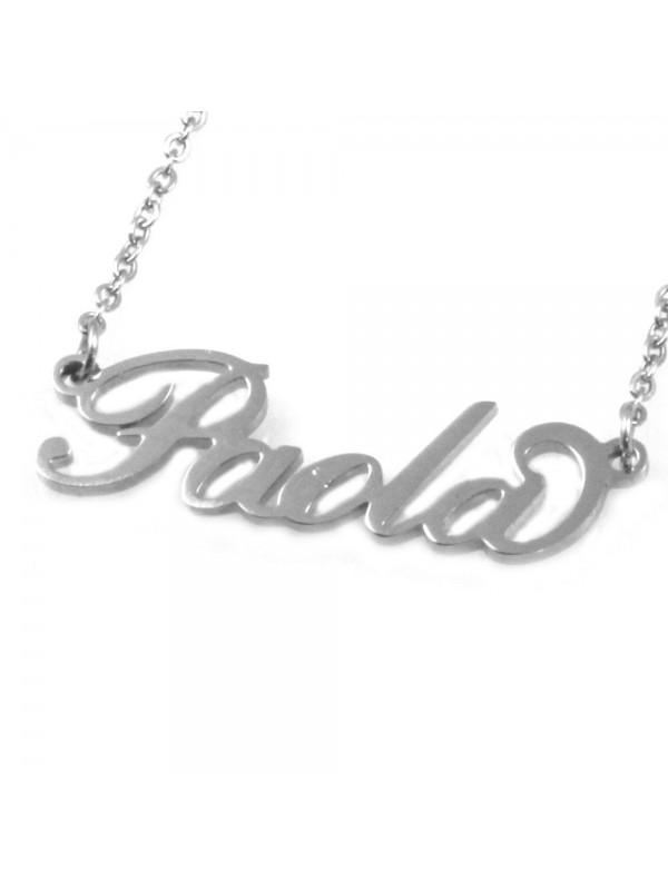 collana con nome Paola in acciaio da donna - cll1816