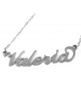 collana con nome Valeria in acciaio da donna - cll1818