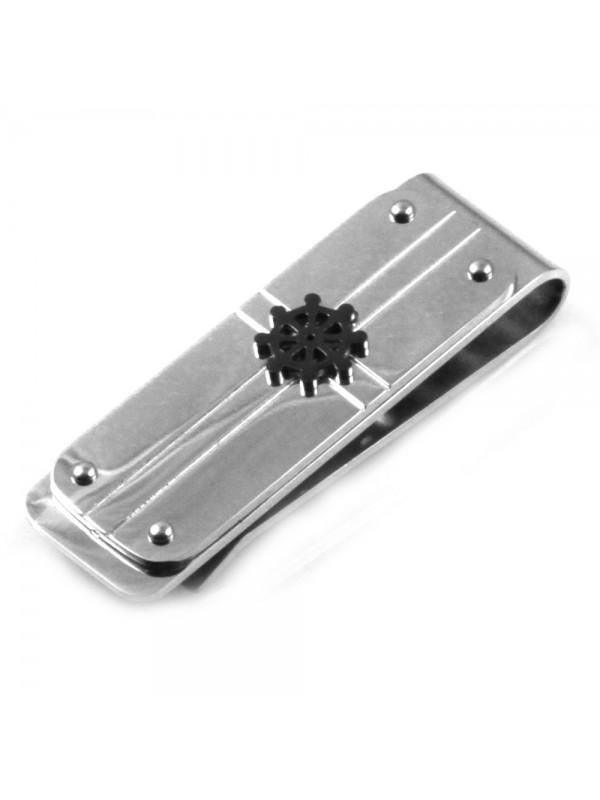 Ferma soldi in acciaio uomo con elemento timone fsl025