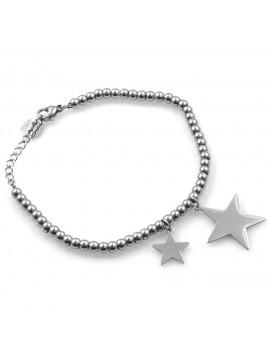 bracciale donna con stelle stelline in acciaio ottimo da personalizzare con incisione