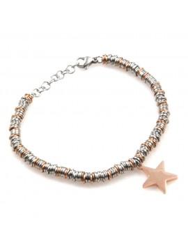 bracciale donna con stella in acciaio bicolore bcc2529