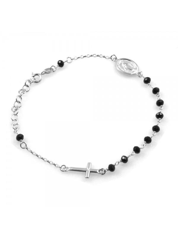 bracciale rosario in argento donna uomo-bcc2660