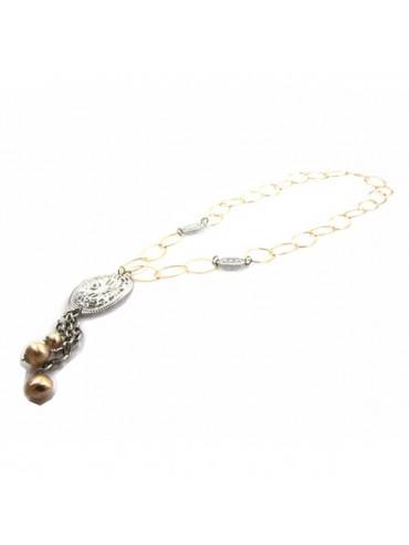 Collana in bronzo donna chanel lunga
