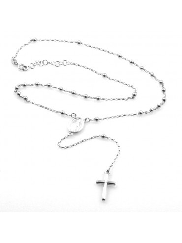 collana rosario uomo donna in argento 925 cll1851