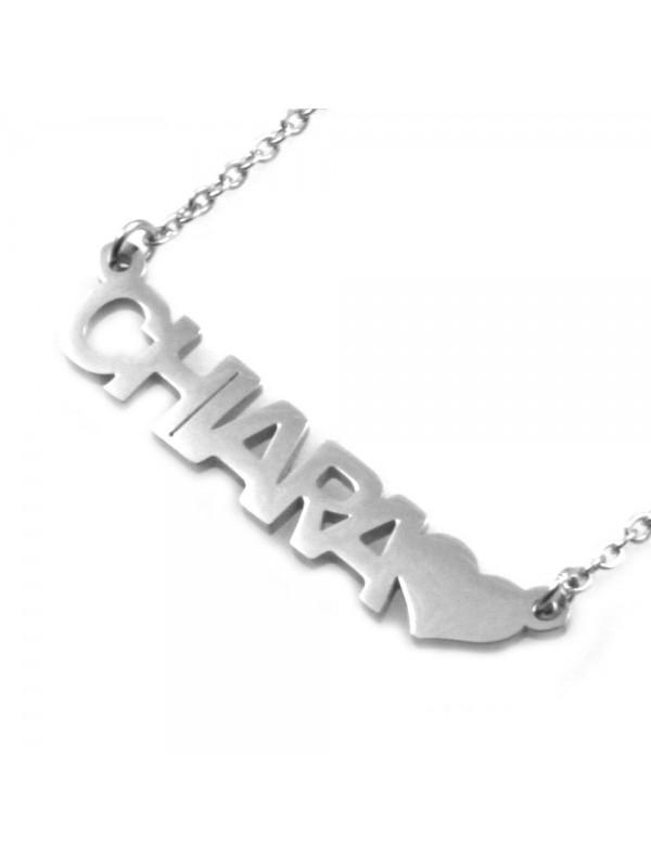 collana con nome Chiara in acciaio da donna cll1774