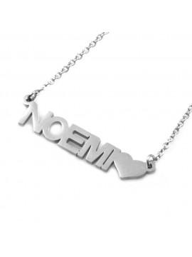 collana con nome Noemi in acciaio da donna - cll1814