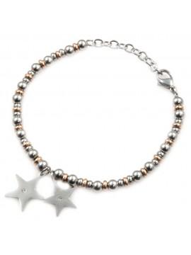 Bracciale stella stelline donna in acciaio inossidabile - bcc0017