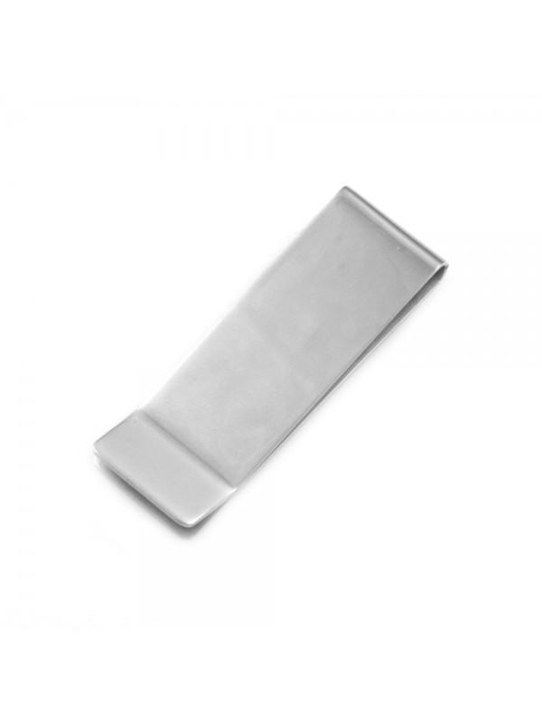 Fermasoldi uomo in acciaio personalizzabile con incisione inalterabile - fsl001