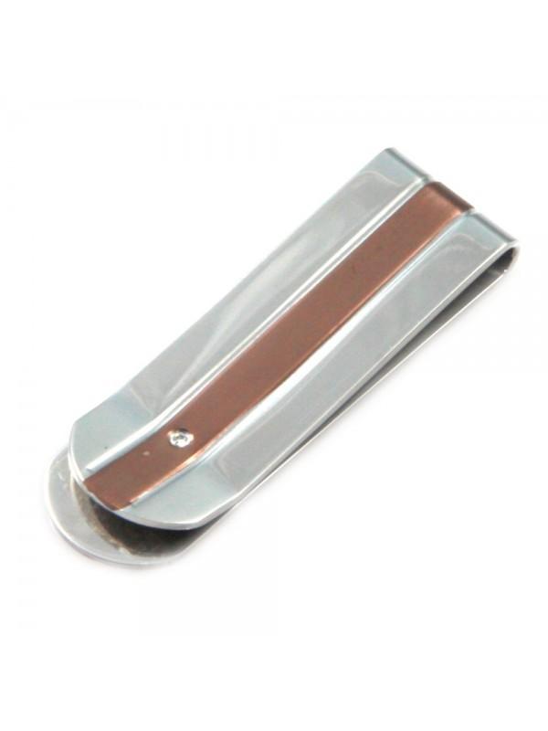 fermasoldi uomo in acciaio bicolore elegantissimo fsl020