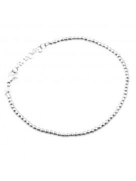 bracciale a palline diamantate in argento 925 bellissimo bcc1646