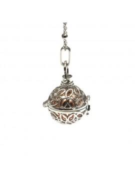 Chiama angeli collana ciondolo in bronzo motivo ovali - cll1265