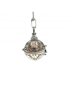 chiama angeli collana ciondolo bola messicana in bronzo xlofono catena fino a 90 cm diametro mm 25 - cll1430